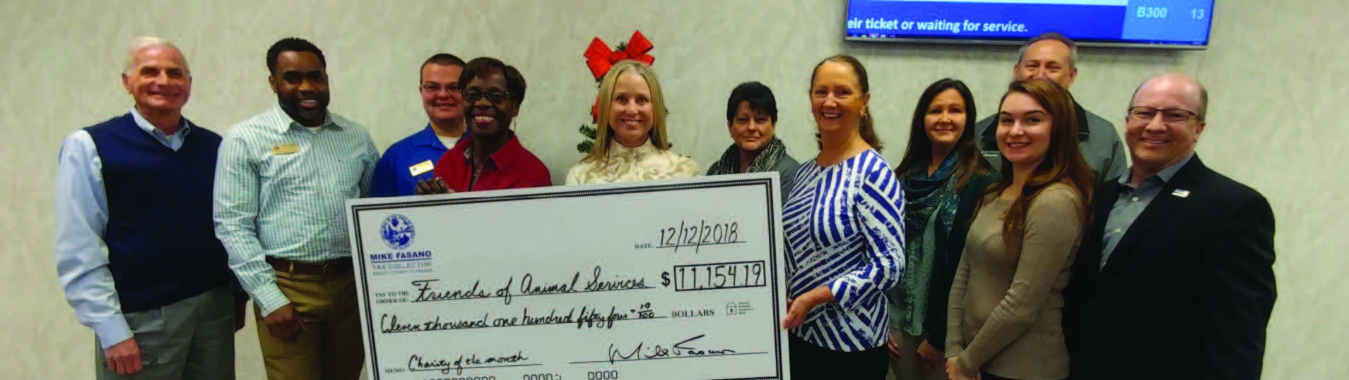 Pasco County Tax Collector's Offices Collect $11,154 19 for